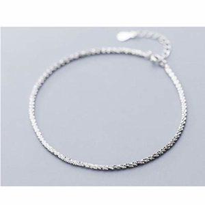 onedayday Bracelet chaîne de Cheville pour Femme en Argent Sterling 925