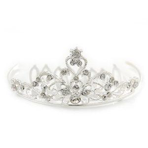 Princess Style de mariage/mariage/Prom/fête Plaqué rhodium Cristal Swarovski Mini Peigne à cheveux Tiare–60mm