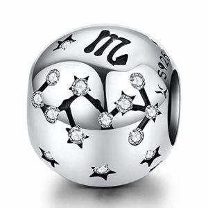 Reiko Scorpion Constellation 925 Argent Bead Charms Bricolage Peut Être Combiné avec des Bracelets Et des Colliers