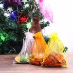 Sac Organza Cadeau, Mariage Organza Favor Sacs pour Bijoux Bébé Douche Party Favors Cadeau Pochette Wrap pour Chocolats De Noël Bonbons (100pcs 13 x 18cm)