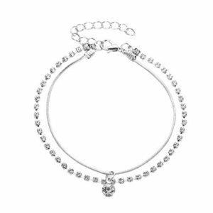 ZZXS Bracelet de Cheville 2 pièces/Ensemble Femmes Bracelet de Cheville Bracelet de Cheville Plage Sandales aux Pieds Nus Bracelet de Cheville FemmesJ50061