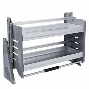 Armoire De Cuisine Rabattable Support De Stockage De Paniers D'Assaisonnement, RéSistance à La Corrosion Support De Paniers En Alliage D'Aluminium, Installation Facile,76x27x55cm