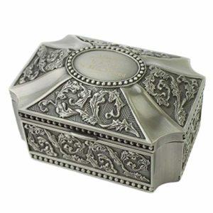 Boîte à bijoux en alliage de zinc pour bijoux