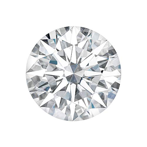 Charles & Colvard – Pierre de moissanite Forever One incolore de 12.0 mm – ronde « hearts and arrows » – 6.315 ct. DEW