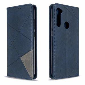 Coque Xiaomi Redmi Note 8T Porte-Cartes [Béquille] [Fentes pour Cartes] [Fermoir Magnétique] Étui à Rabat Housse en Cuir pour Xiaomi Redmi Note8T – TTBF010527 Bleu
