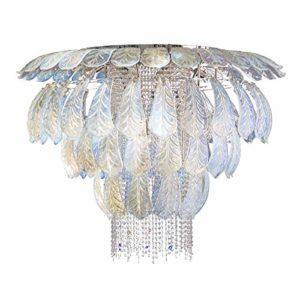Il Paralume Marina Verre de Murano cristal Suspensions Parma en nickel poli | Fait à la main Fabriqué en Italie