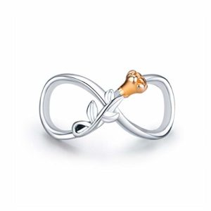 Inbeauty Breloque en forme de rose en argent sterling 925 pour bracelet ou collier