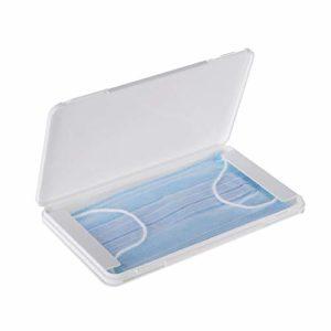 KKmoon Boîte en Plastique Plate Transparente Portable, Boîte de Nettoyage étanche à la Poussière et à l'humidité, Boîte de Rangement en Coton Filtré, 19 x 11 x 1.2 CM
