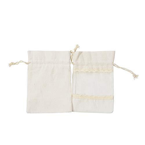 Lot de 20 sacs en organza de lin avec cordon de serrage pour bijoux