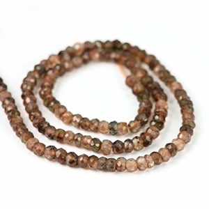 Ratnagarbha Natural Andalusite Micro Faceted rondelle Loose Gemstone Beads, 5 Strands Israel Cut Beads, Jewelry Making, Wholesale Price.