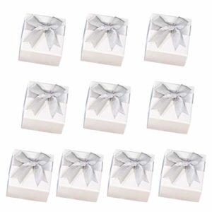 Shefii Lot de 10 boîtes de rangement pour bijoux avec pendentif, bracelet, boucles d'oreilles