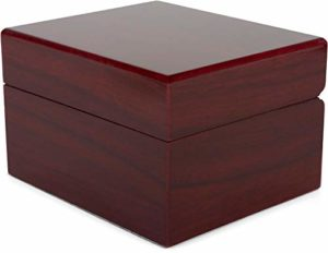 styleBREAKER boîte à Bijoux Aspect Bois Brillant pour pendentifs, chaînes ou Bracelets, Fermeture à clapet, boîte Cadeau 05050080, Couleur:Rouge Brun