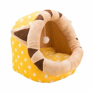 Szkn Niche de couchage pour animal domestique Motif dessin animé, Yellow Cat Jiji S, UN