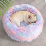 Szkn Tapis en peluche chaud et confortable pour chat et chien, S coloré : diamètre 50, UN