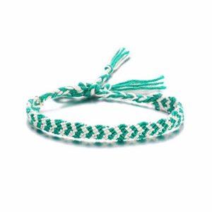 ZZXS Bracelet de Cheville Bracelet de Cheville tissé réglable sur la Jambe Bracelet Femme Corde à la Main Coton Chaîne tissée Bracelet Plage7
