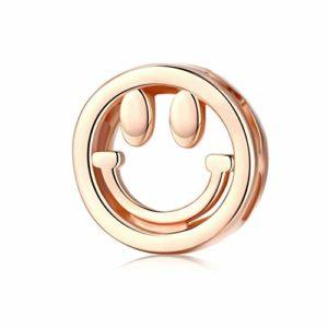 HMMJ Les Femmes S925 Argent Sterling Charms Perles Sourire Bricolage Main Pendentif Compatible avec Pandora & Bracelets européens Colliers
