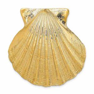 Or jaune 14 carats – Convient pour une grande glissière en coquille de feston de 10 mm et 8 mm