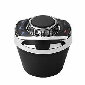 Schildeng 8 Touches de Fonction Bouton de Commande de Volant sans Fil de Voiture, avec lumière LED contrôleur de Volant Universel pour Lecteur de Navigation Android de Voiture