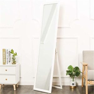 Tian Mural Au Sol à Double Usage Miroirs, Simple Cadre en Bois Massif Miroir étage Chambre Salon 150 * 33cm