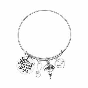 Bracelet d'infirmière, bracelet à breloques pour infirmière, cadeau idéal pour infirmière