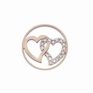 Emozioni EC423 Double Heart Coin 33 mm