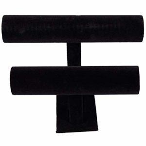 Fauge Présentoir Bracelet Jonc 2 Niveaux Noir