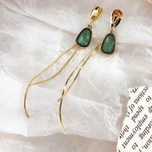 LINLIN Vintage CrystalStar Women Dangle Earrings Double Hollow Star Earrings for Women Drops Earrings Party Earrings
