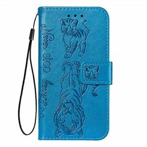 Suhctup Flip Premium PU Portefeuille Compatible Con Mi 9T/Mi 9T Pro Coque Housse en Cuir Protection Bumper Etui avec [Porte Cartes] [Stand Fonction] Anti-Rayures Rabat Cover,Bleu