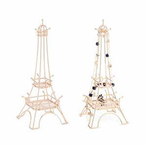 Beautify Présentoir à bijoux en forme de tour— Couleur champagne — 17 crochets