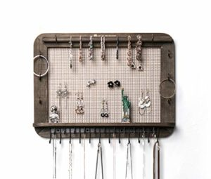 JackCubeDesign Étagère murale de rangement pour bijoux en bois pour boucle d'oreilles suspendue – MK399A