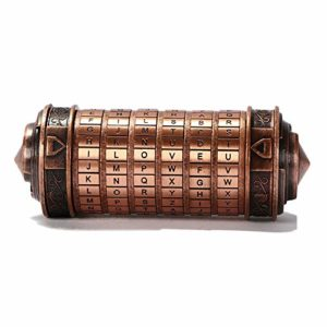 Pexwell Serrure romantique pour amoureux de la serrure Da Vinci Serrure créative Cadeau romantique pour anniversaire de Saint-Valentin