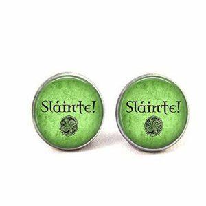 Slainte! – Collier avec pendentif celtique – Bijoux celtiques – Slainte Jewelry.Boucles d'oreilles Literary Jewelry